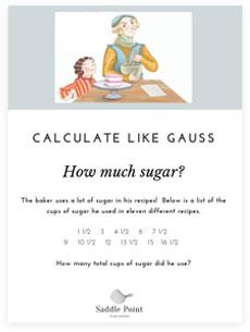 how much sugar worksheet